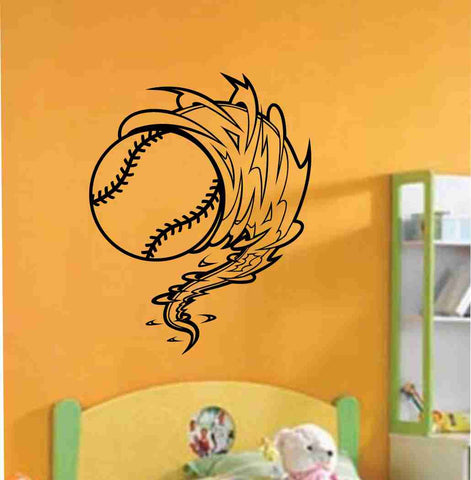 Baseball Cyclone Vinyl Decal Sticker Wall Art Graphic Kids Room Sports Nursery - ezwalldecals  - vinyl decal - vinyl sticker - decals - stickers - wall decal - jdm decal - vinyl stickers - vinyl decals - 1