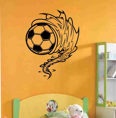 Soccer Ball Cyclone Vinyl Decal Sticker Wall Art Graphic Kids Room Sports Nursery - ezwalldecals  - vinyl decal - vinyl sticker - decals - stickers - wall decal - jdm decal - vinyl stickers - vinyl decals - 1