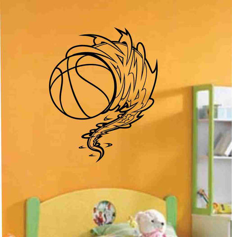Basketball Cyclone Vinyl Decal Sticker Wall Art Graphic Kids Room Sports Nursery - ezwalldecals  - vinyl decal - vinyl sticker - decals - stickers - wall decal - jdm decal - vinyl stickers - vinyl decals - 1