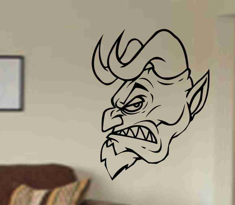 Devil Version 105 Wall Vinyl Decal Sticker Art Graphic Sticker Devils Satan - ezwalldecals  - vinyl decal - vinyl sticker - decals - stickers - wall decal - jdm decal - vinyl stickers - vinyl decals - 1