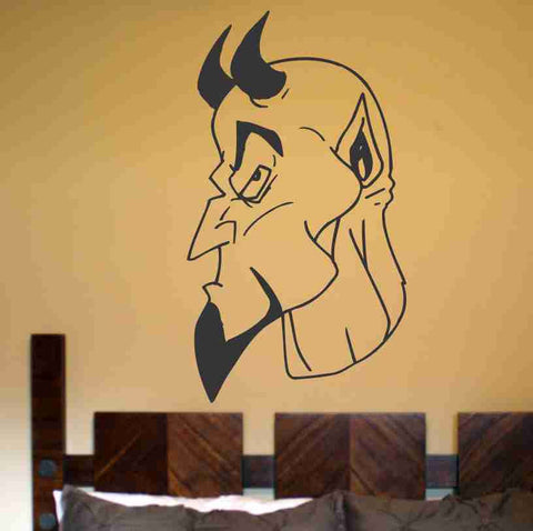 Devil Version 107 Wall Vinyl Decal Sticker Art Graphic Sticker Devils Satan - ezwalldecals  - vinyl decal - vinyl sticker - decals - stickers - wall decal - jdm decal - vinyl stickers - vinyl decals - 1