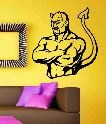 Devil Version 106 Wall Vinyl Decal Sticker Art Graphic Sticker Devils Satan - ezwalldecals  - vinyl decal - vinyl sticker - decals - stickers - wall decal - jdm decal - vinyl stickers - vinyl decals - 1