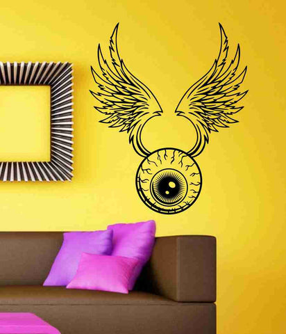 Eye With Wings Sticker Wall Art Graphic Dragons Cartoon - ezwalldecals  - vinyl decal - vinyl sticker - decals - stickers - wall decal - jdm decal - vinyl stickers - vinyl decals - 1
