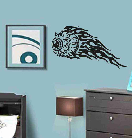 Flaming Eye Sticker Wall Art Graphic Dragons Cartoon - ezwalldecals  - vinyl decal - vinyl sticker - decals - stickers - wall decal - jdm decal - vinyl stickers - vinyl decals - 1