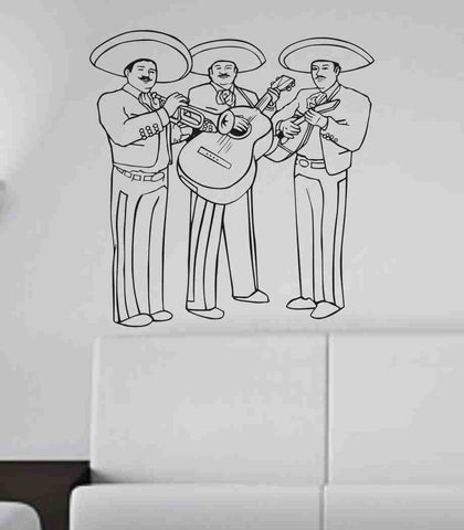 Mariachi Band Vinyl Sticker Wall Art Graphic Music - ezwalldecals  - vinyl decal - vinyl sticker - decals - stickers - wall decal - jdm decal - vinyl stickers - vinyl decals - 1