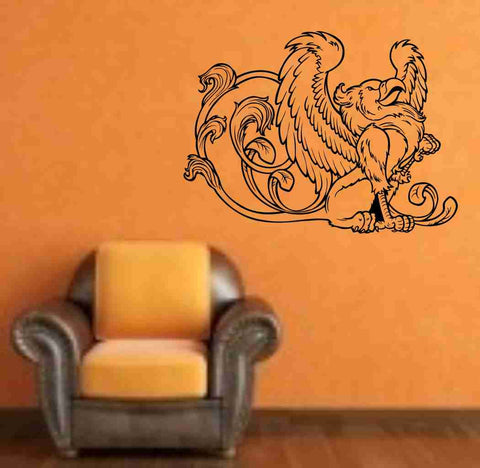 Griffin Version 101 Decal Sticker Wall Art Graphic Dragons Cartoon Head - ezwalldecals  - vinyl decal - vinyl sticker - decals - stickers - wall decal - jdm decal - vinyl stickers - vinyl decals - 1