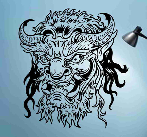 Hannya Mask Decal Sticker Wall Art Graphic Head - ezwalldecals  - vinyl decal - vinyl sticker - decals - stickers - wall decal - jdm decal - vinyl stickers - vinyl decals - 1