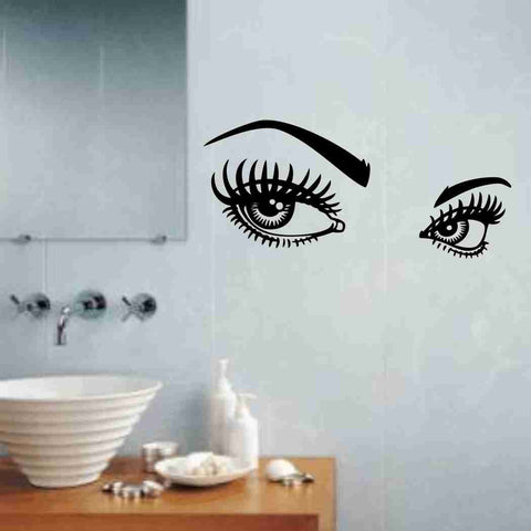 Girl Eyes Decal Sticker Wall Art Graphic - ezwalldecals  - vinyl decal - vinyl sticker - decals - stickers - wall decal - jdm decal - vinyl stickers - vinyl decals - 1