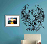 Griffin Version 103 Decal Sticker Wall Art Graphic Dragons Cartoon Head - ezwalldecals  - vinyl decal - vinyl sticker - decals - stickers - wall decal - jdm decal - vinyl stickers - vinyl decals - 1