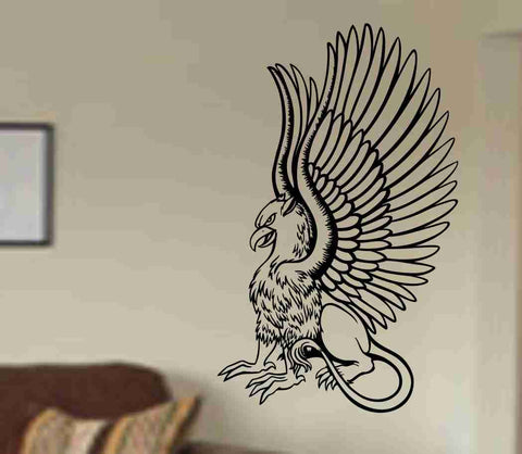 Griffin Version 104 Decal Sticker Wall Art Graphic Dragons Cartoon Head - ezwalldecals  - vinyl decal - vinyl sticker - decals - stickers - wall decal - jdm decal - vinyl stickers - vinyl decals - 1