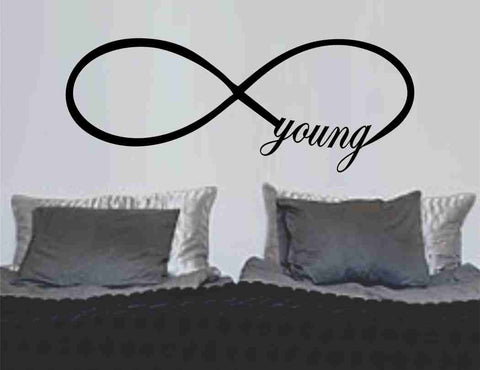 Forever Young Infinity Symbol Wall Decal Sticker Family Art Graphic Home Decor Mural Decal Sticker Famous Quotes - ezwalldecals  - vinyl decal - vinyl sticker - decals - stickers - wall decal - jdm decal - vinyl stickers - vinyl decals - 1