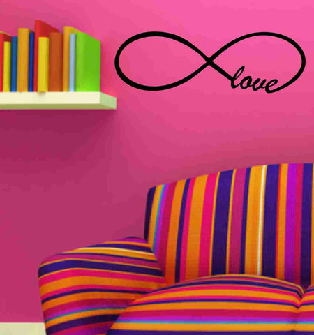 Love Forever Infinity Wall Decal Sticker Family Art Graphic Home Decor Mural Decal Sticker Famous Quotes - ezwalldecals  - vinyl decal - vinyl sticker - decals - stickers - wall decal - jdm decal - vinyl stickers - vinyl decals - 1