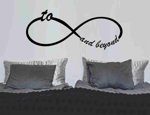 To Infinity and Beyond Symbol Wall Decal Sticker Family Art Graphic Home Decor Mural Decal Sticker Famous Quotes - ezwalldecals  - vinyl decal - vinyl sticker - decals - stickers - wall decal - jdm decal - vinyl stickers - vinyl decals - 1