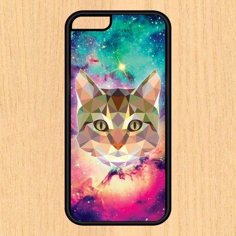 Abstract Tribal Cat in Space Hipster Art Print Design Art iPhone 4 / 4s / 5 / 5s / 5c /6 / 6s /6+ Apple Samsung Galaxy S3 / S4 / S5 / S6