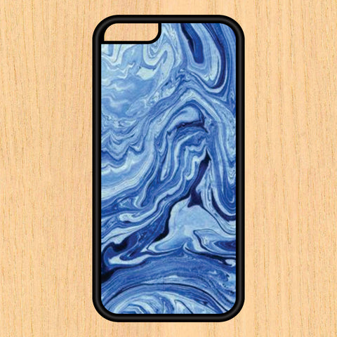 Blue Marble Slab Textured Print Design Art iPhone 4 / 4s / 5 / 5s / 5c /6 / 6s /6+ Apple Samsung Galaxy S3 / S4 / S5 / S6