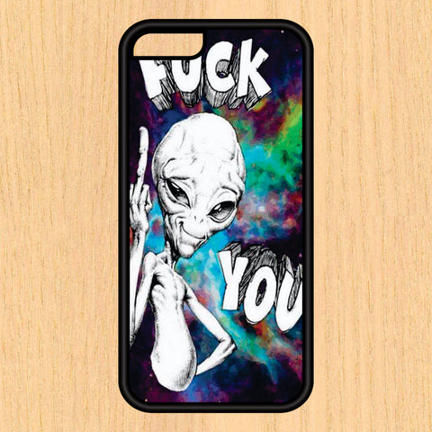 Alien Middle Finger Phone Case iPhone 4 / 4s / 5 / 5s / 5c /6 / 6s /6+ Apple Samsung Galaxy S3 / S4 / S5 / S6