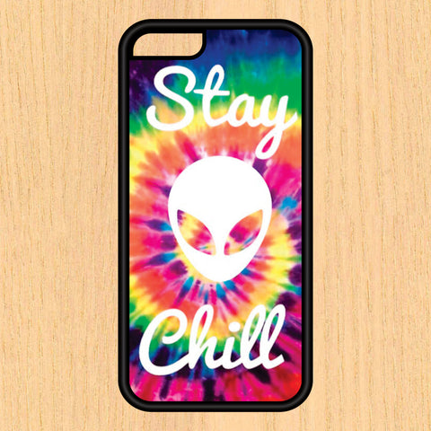 Alien Stay Chill Tie Dye Print Design Art iPhone 4 / 4s / 5 / 5s / 5c /6 / 6s /6+ Apple Samsung Galaxy S3 / S4 / S5 / S6