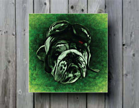Abstract Dog with Goggles Art Background Photo Panel - Durable Finish - High Definition - High Gloss