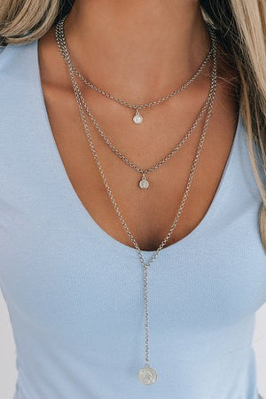 3 Layer Coin Necklace