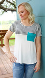 Simply Striped Pocket Top