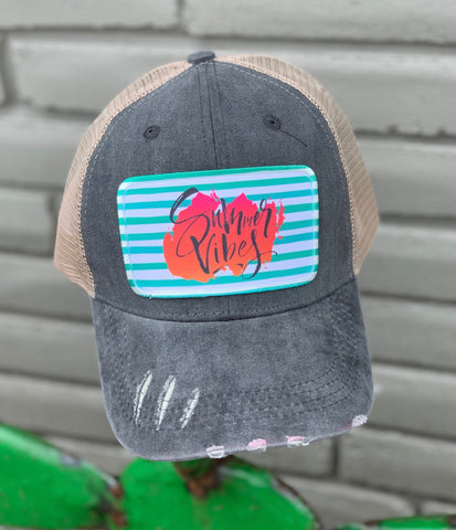 Summer Vibes Distressed Hat
