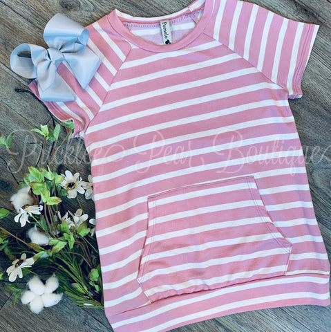 Girls Prim Rose Pocket Top