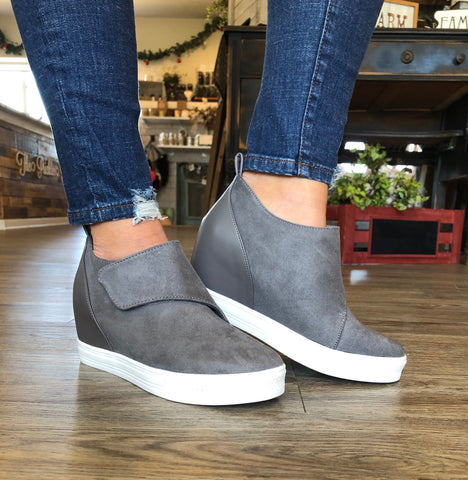 Penelope Grey Wedge Sneaker