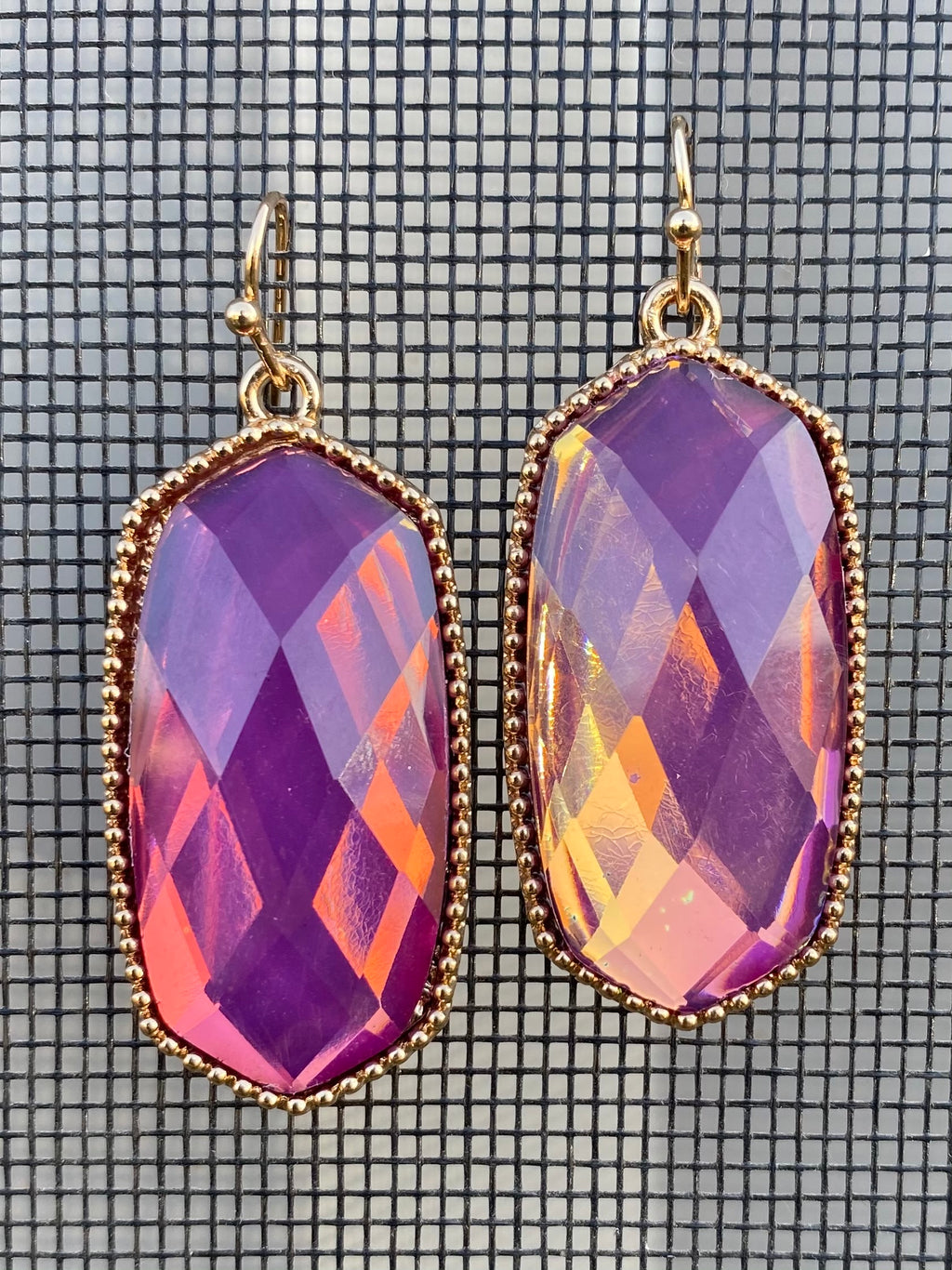 Fancy Faceted Drop Earrings