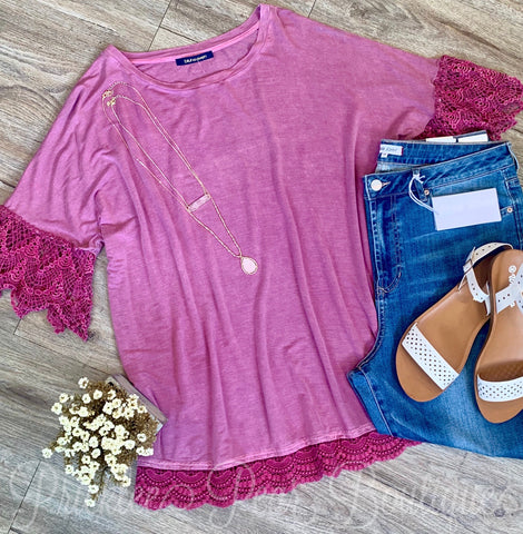 Margie Mauve Plus Top