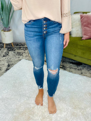 Gemma High Rise Button Fly KanCan Jeans