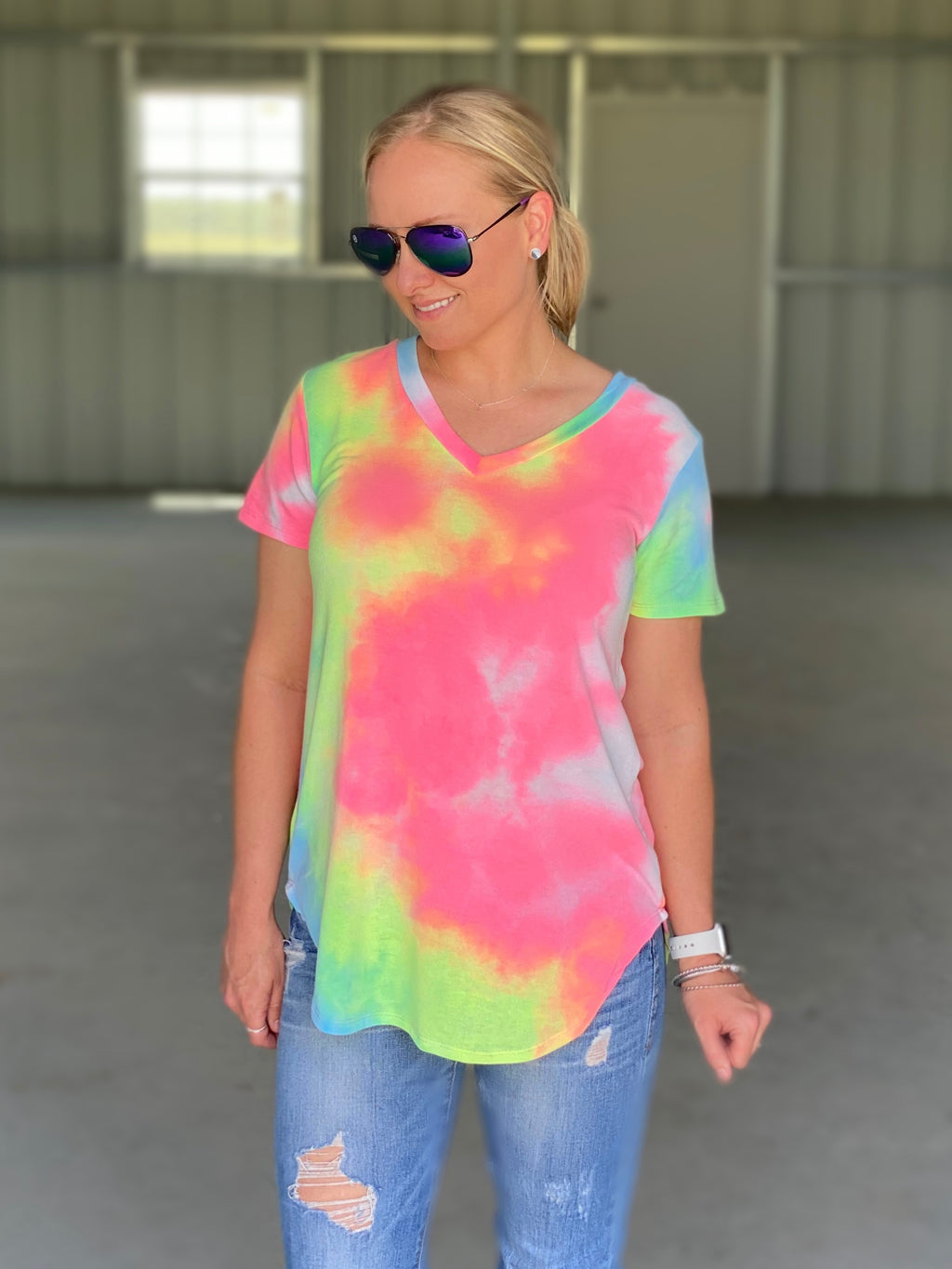 Beautifully Bright Tie Dye Top