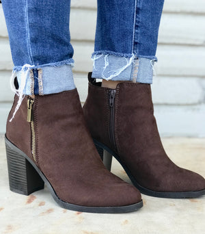 Butter Me Up Brown Booties