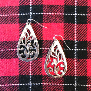Vine Design Teardrop Earrings