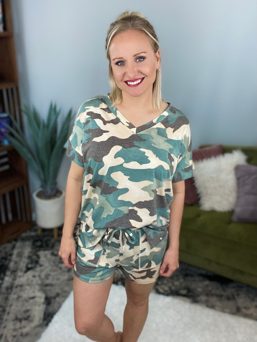 Green Camo Lounge Set
