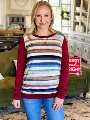 Wine & Wishes Striped Top