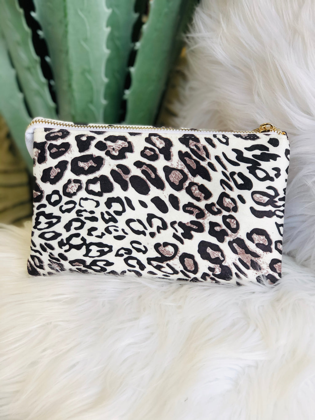 White Taupe Leopard Liz Crossbody Bag
