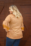 Falling For Mustard Bell Sleeve Plus Top