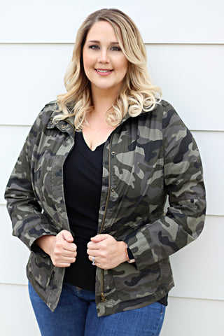 Camo Plus Size Jacket