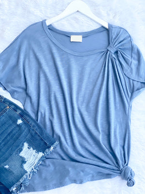 So Knot Basic Blue Top