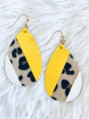 Leopard Color Block Teardrops