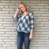 Placid Plaid Hi-Low Top