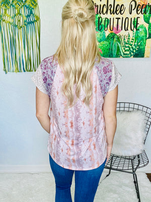 Braided Detail Tie Dye Top