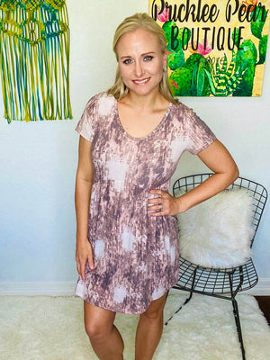 Brick Tie Dye Babydoll Dress