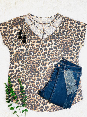 Strappy Leopard Top