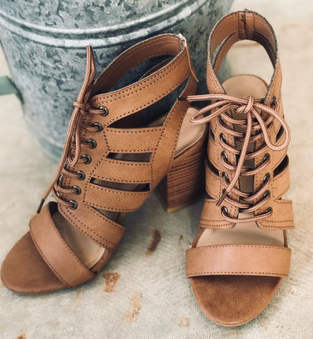 Tan Giselle Block Heel