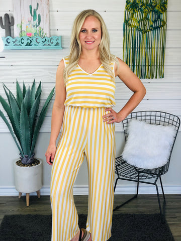 Honey Rompin Stompin Striped Romper