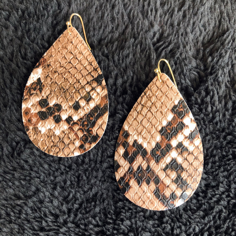 Teardrop Snake Earrings