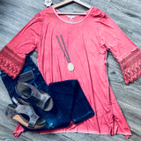 Oil Washed Lace Plus Tunic