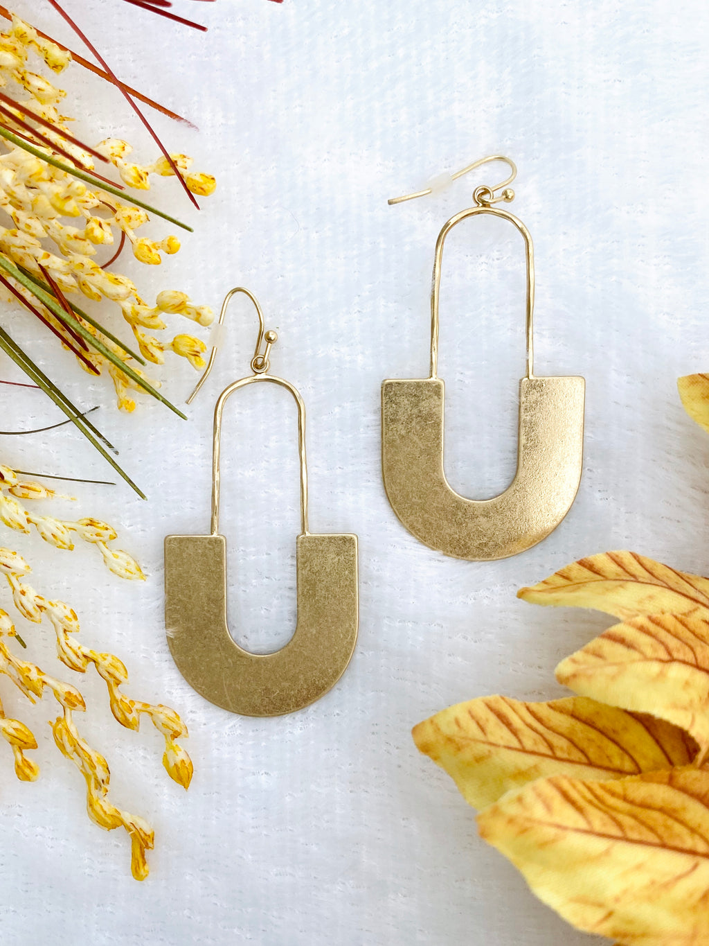 Wide Arch Drop Earrings