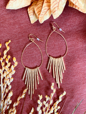 Hammered Bar Drop Earrings